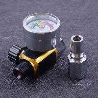 DWCX Metal 3.3cm G1/4 Inlet & Outlet Spray Paint Pneumatic Tool Adjustable Air Pressure Gauge Regulator Valve Accessories|Valves & Parts| |  -