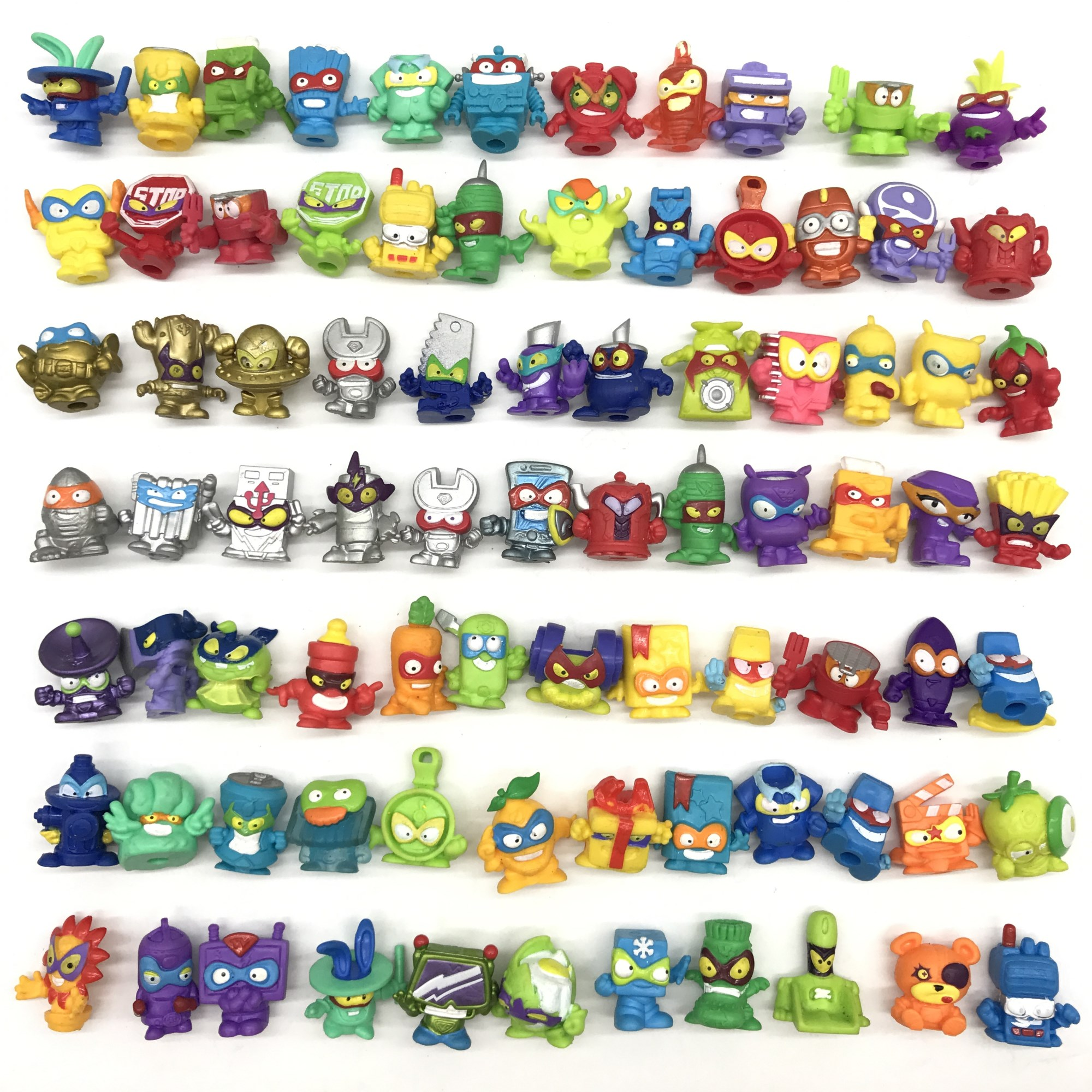 20pcs Superzings Series 1 2 3 Garbage Rubber Cartoon Anime Action Figures Toy Collection Model Rubber Toy For Kids Gift