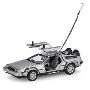 Image 4 - Carrinho de brinquedo para crianças, carrinho de brinquedo 1:24 balança para filme de volta ao futuro peça 1/2/3 DMC 12 carro de brinquedo de liga para crianças, presente