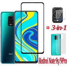 3-in-1 Phone Protective Glass,Tempered Glass Redmi Note 9S Screen Protector Galss 9H Scratch resistant Front Film For Xiaomi Redmi Note 9 S Nota 9s Safty Glasses