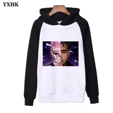 2019Xxxtentacion Print Raglan Hoodies Women Men's  Autumn Billie Eilish Hip Hop Pullovers Hoodie Fashion Long Sleeve Sweatshirts