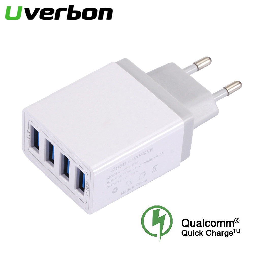 Usb-Charger Smart-Phone 5v/5.1a-Adapter Universal Samsung 4-Port For Travel
