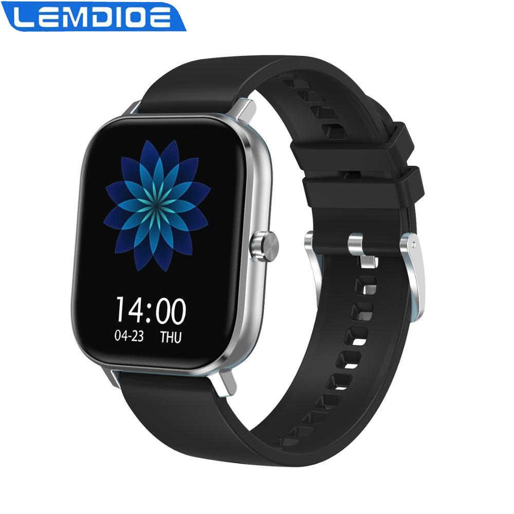 LEMDIOE montre intelligente hommes 2020 plus récent 1.54 pouces Bluetooth appel ECG moniteur de fréquence cardiaque Smartwatch pour GTS Android IOS