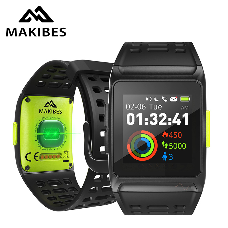 11.11 Makibes BR1 GPS Men's Women Smart Watches Bluetooth Strava ECG PPG Wristwatch Fitness Tracker Wearable Devices Smart Band