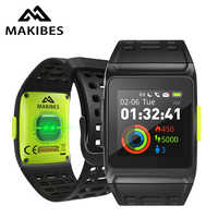 ES/RU/DE en stock Makibes BR1 GPS deporte relojes inteligentes Bluetooth Strava pantalla a Color deportivo reloj DE pulsera para hombres fitness Smartwatch