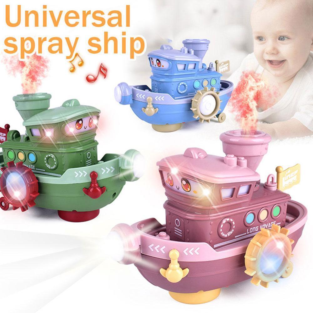 Fast Speed Light Electric Marine Boat Toy For Kids Electric Fire Lights Beautiful Real Sound Outdoor Boat Walking Universal I0W7