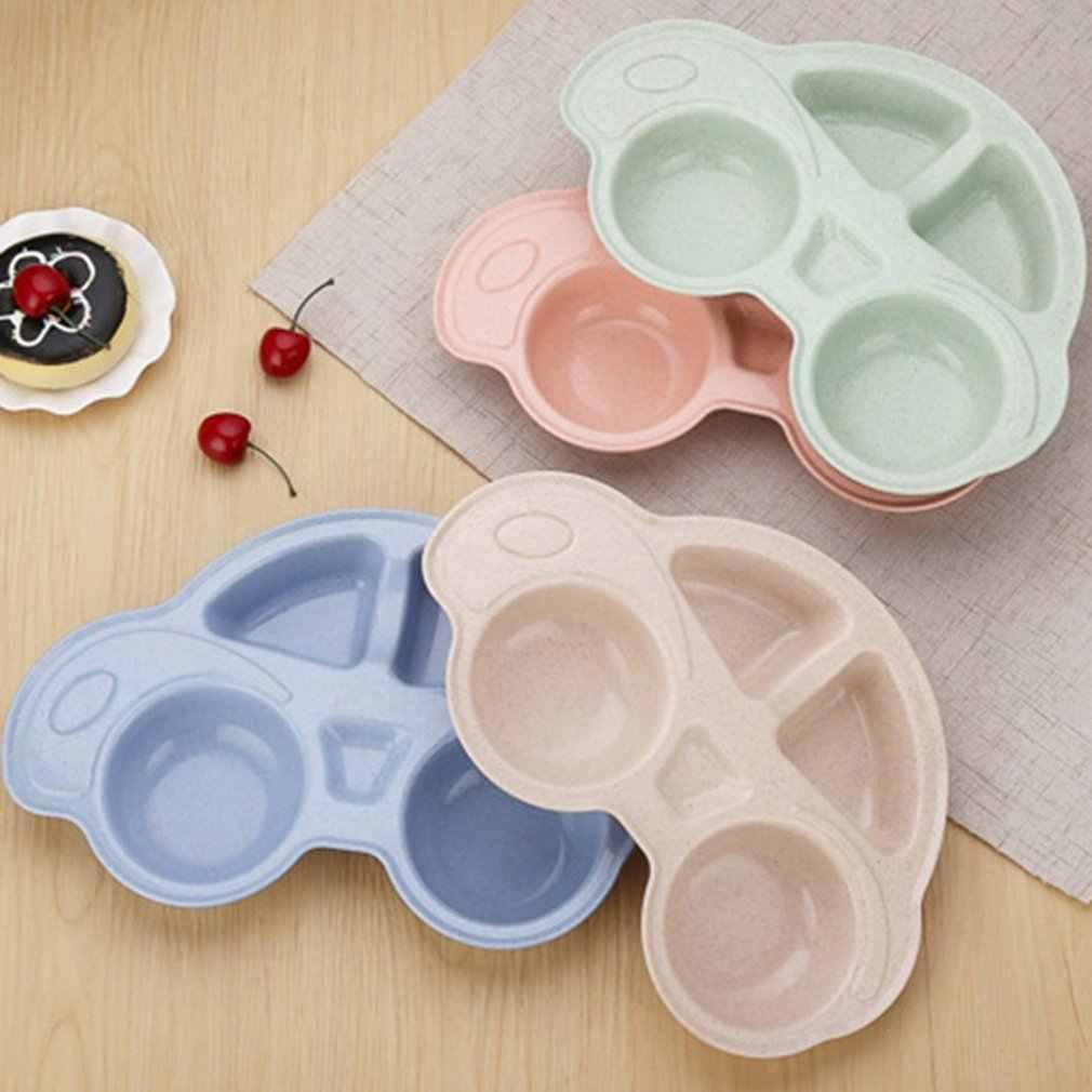 Paja de trigo niños chico bebé artículos de mesa plato para cena conjuntos de placas de patrón de coche cuenco platos Set vajilla