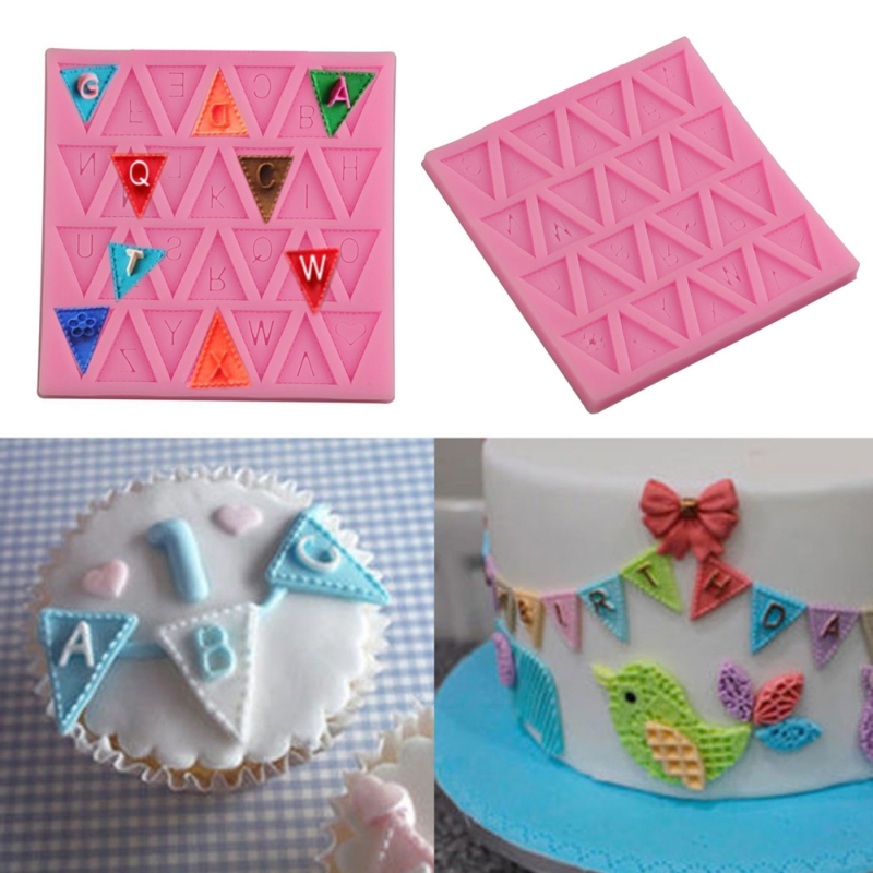 Kitchen DIY Baking Tools Household Letter Cake Mold Silicone Fondant Bakeware Dining Bar Supplies