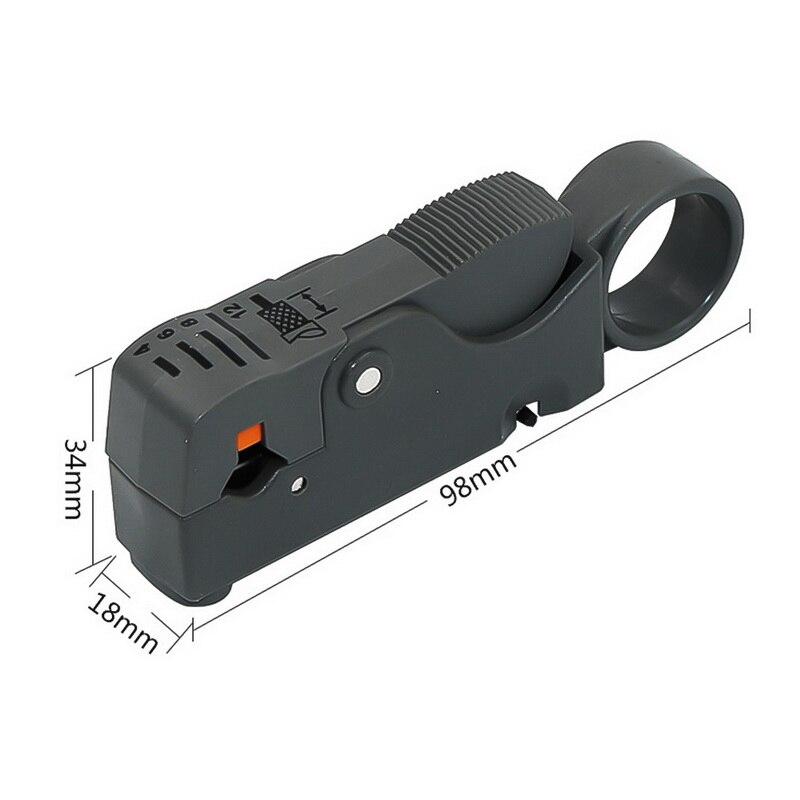 Автоматические плоскогубцы для зачистки многофункциональных проводов Инструмент для зачистки проводов обжимной инструмент с шестигранным гаечным ключом - Цвет: Черный