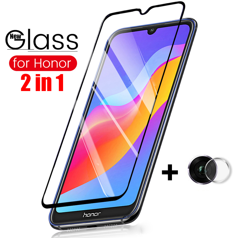 2 In 1 Tempered Glass For Huawei Honor 8a Camera Glass On Hauwei Honor8A 8 A Screen Protector Lens Film Protective Film JAT-L29