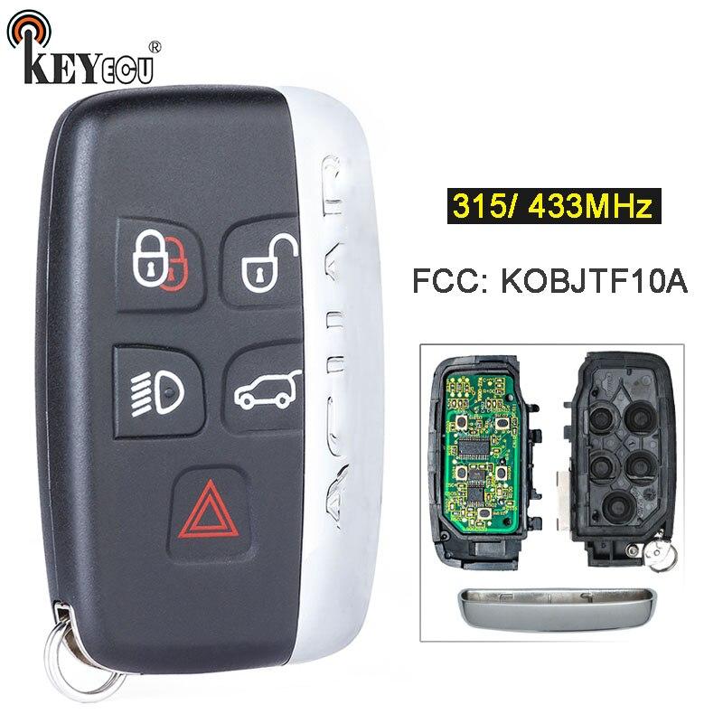KEYECU 315/ 433 МГц FCC: kобъект10 A сменный 5-кнопочный пульт дистанционного управления для Jaguar XF XJ XK XE F-Type с надписью сбоку