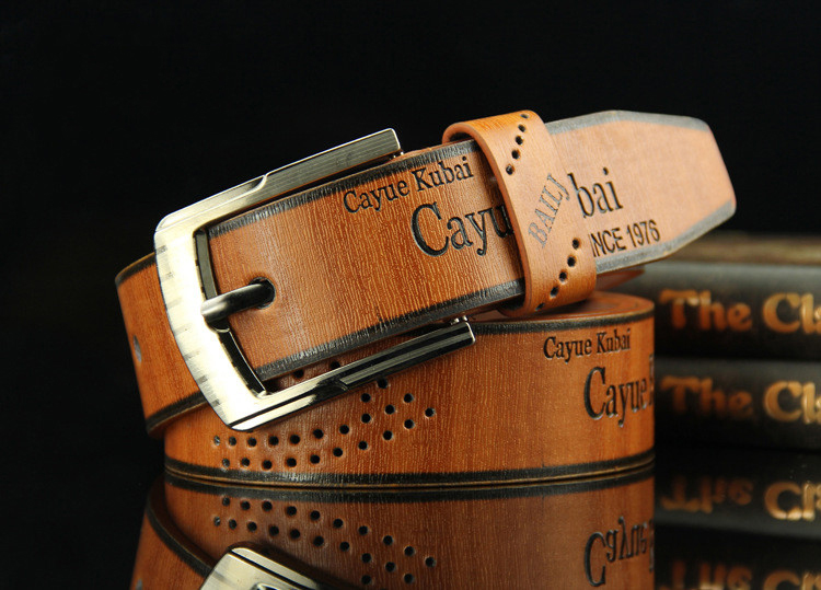 Leather Luxury Strap Male Belts For Men New Fashion Classice Vintage Pin Buckle Men Belt High Quality