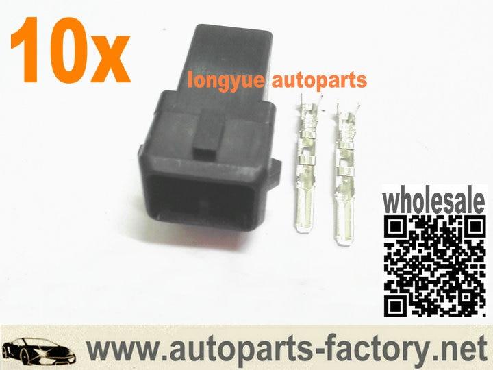 10set Male EV1 Repair Connector Plug For Bosch Fuel Injector OBD1
