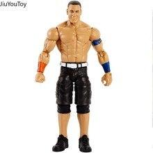 Jiuyoutoylimited 18cm lutador wrestling john cena figura boneca de brinquedo brinquedos figurais coleção modelo presente para coleção