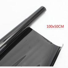 50*100cm matiz de vidro da janela de casa do carro filme de matiz rolo com raspador para a janela lateral anti filme uv transmitância 5% 15% 35% 50%