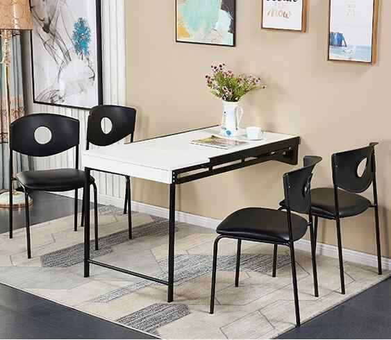 multifonctionnel mural deformable table a manger pliante petit appartement net rouge rotatif telescopique invisible bureau