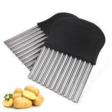 Кухня из нержавеющей стали картофельные чипсы резки гофрированного картофеля слайсер гофрированный картофельный чип формовочный нож аксессуары для кухни