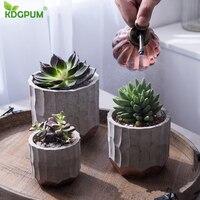 Nordic Modern Geometry Round Creative Flower Pot Simple Cement Fleshy Flower Pot Gardening Home Christmas Decoration Supplies
