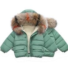 2019 fashion fur girls winter coat kids jacket toddler girl clothes