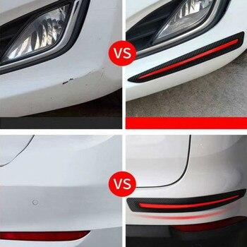 2 sztuk samochodów naklejka naklejka na zderzak ochrona samochodu przednie/tylne krawędzie ochraniacz narożny ochrona przed zarysowaniem pasek do dekoracji