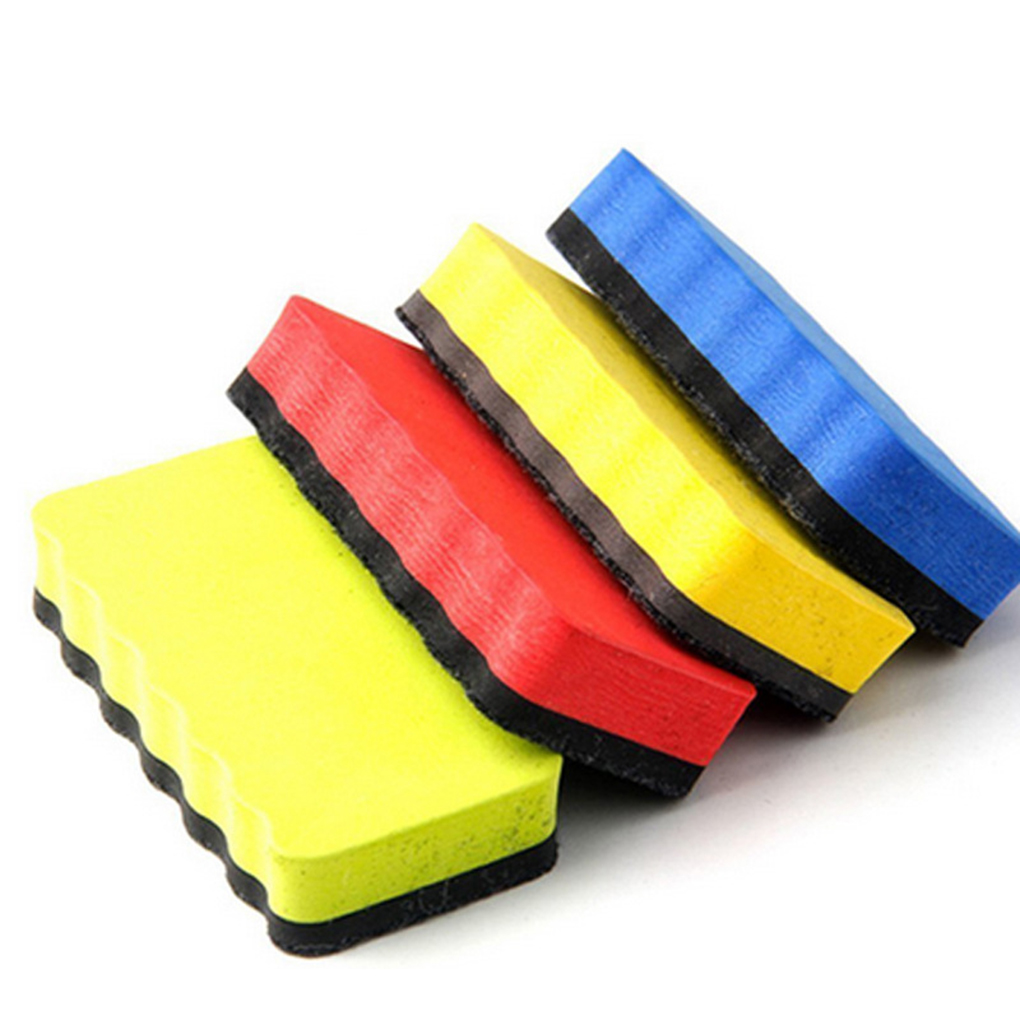 4pcs Whiteboard Dry Erasers  Blackboard Eraser Foam Eraser Chalk Brush