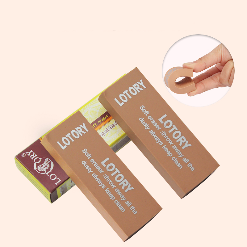 LOTORY High Quality Soft Rubber Pencil Eraser Sketch Painting Writing Erasers Students Correction Erasing Stationery Supplies