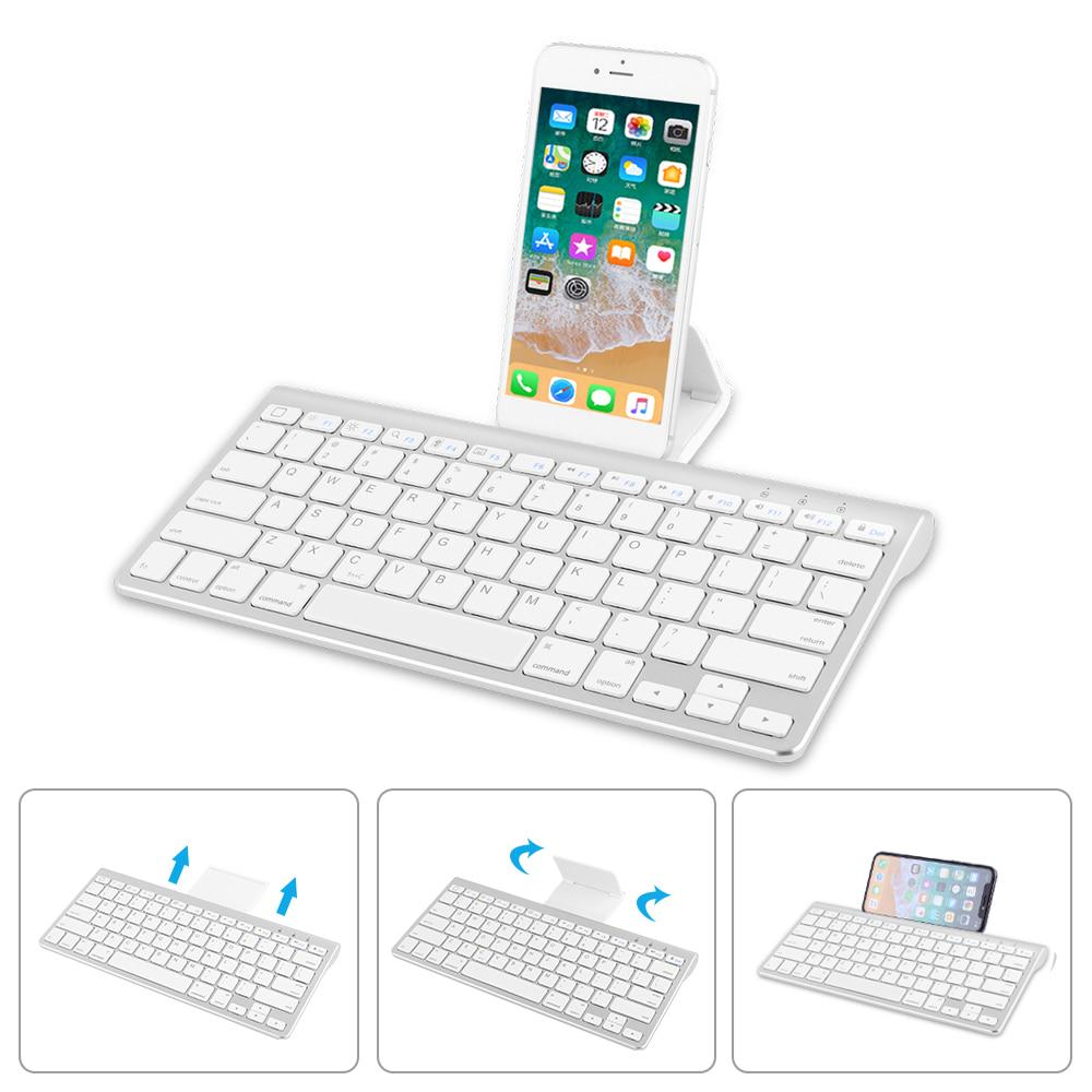 Slim Portable Mini Wireless Bluetooth Keyboard For IPad Tablet Laptop Smartphone Support IOS Android System Phone Universal
