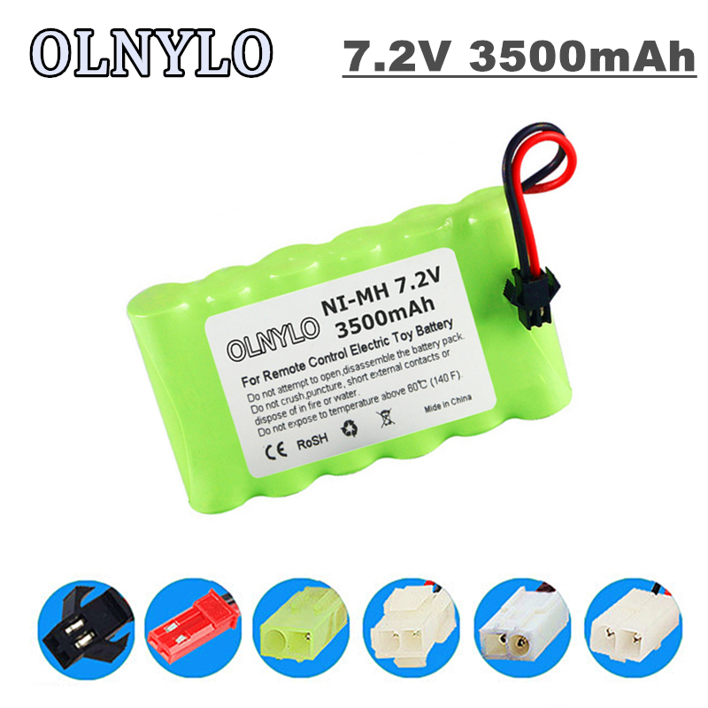 Batería recargable AA NI-MH de 7,2 v y 3500mah para control remoto, juguete eléctrico, barco, coche, camión, 7,2 V, 3000 mah, aa, nimh