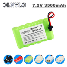 7.2v 3500mah AA NI-MH rechargeable battery For Remote control electric toy boat car truck 7.2 V 3000 mah aa nimh battery