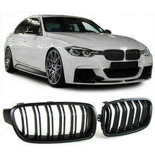 Front Kidney Grille Grills Matte Black for BMW F30 F35 328I 335I 2012-2016(China)
