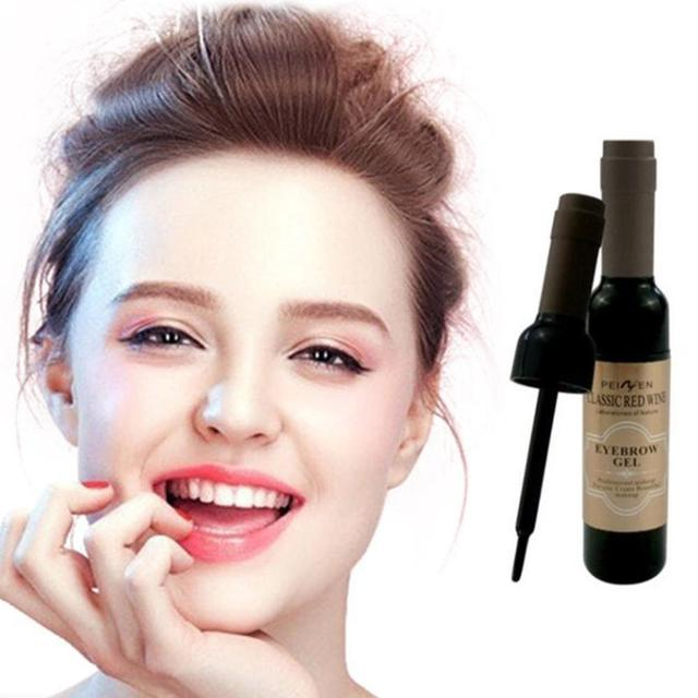 2Pcs Eyebrow Tattoo Gel Black Coffee Gray Peel Off Eye Brow Shadow Eyebrow Gel Makeup for Women High Pigmented Makeup 2
