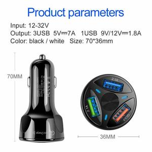 Image 2 - QC3.0 USB Car Charger LED Light 12 24V Cigarette Socket Lighter Power Adapter Fast Charging Car Charger For Iphone Samsung Phone