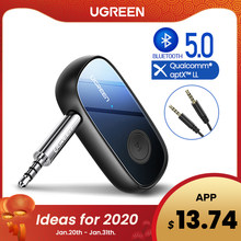 Ugreen Bluetooth Receiver 5.0 APTX LL 3.5 Mm AUX Jack Audio Adaptor Nirkabel untuk Mobil PC Headphone MIC 3.5 Bluetooth 5.0 Reseptor(China)