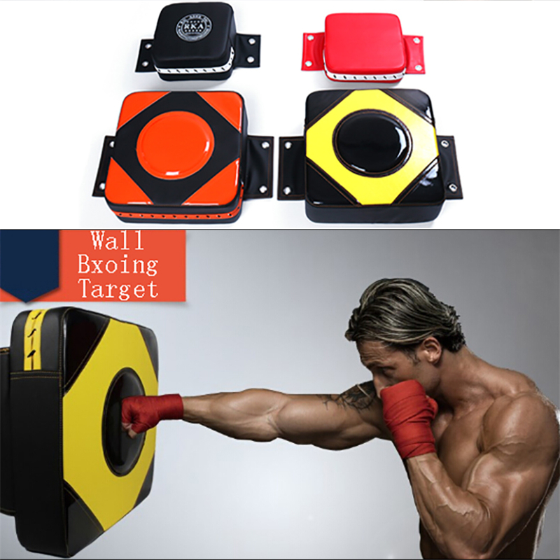 Faux Leather Wall Punching Pad Boxing Punch Target Training Sandbag Sports Dummy Bag Fighter Martial Arts Equipment Fitness Gear