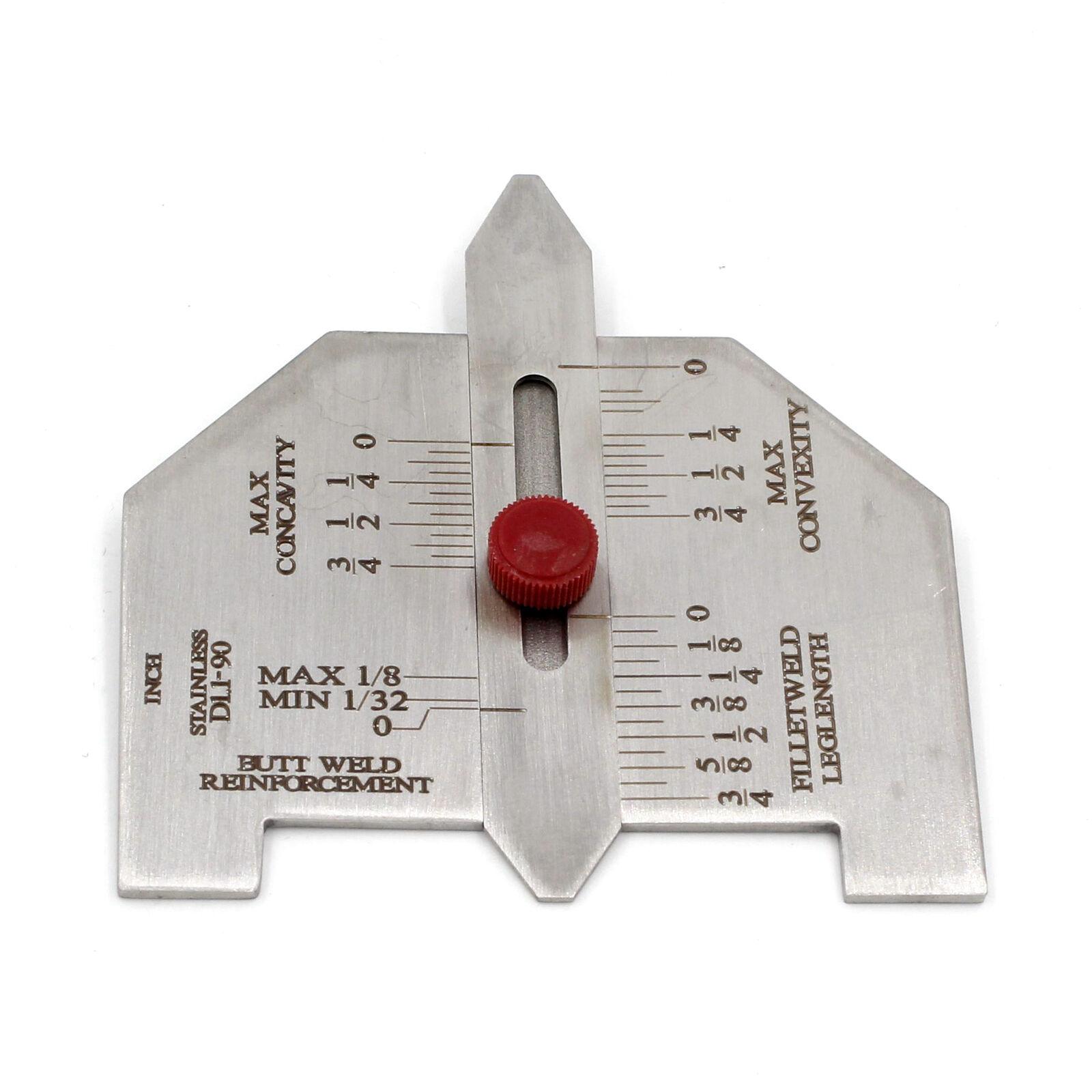 Automatic Weld Size Fillet Weld Butt Weld Welding Gauge Stainless Steel Inch Inspection Gauge