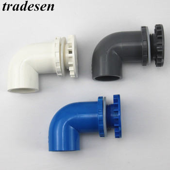 1pc PVC 20 25 32 40 50 mm 90 degree Thickened Fish Tank Outlet  Aquarium Water Inlet tank Elbow UPVC Pipe Joint drainage