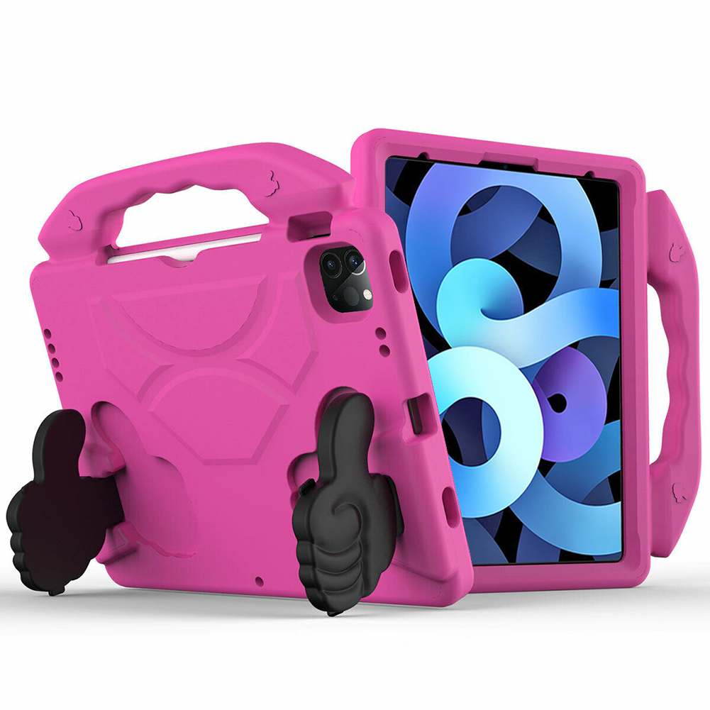Rose Black for iPad Air 4 Case 2020 A2316 A2324 EVA Safe Kids Handle Stand Tablet Case Cover