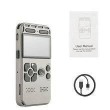 נייד HD סטודיו הדיגיטלי אודיו סאונד מקליט קול דיקטפון WAV MP3 נגן הקלטת עט 50m רעש הפחתת תמיכה 64G
