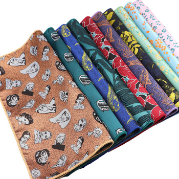 Men's New Design Handkerchief Novel Face Polyester Floral  Pocket Square Hankies Business Casual Hanky Daily Shirt Accessories