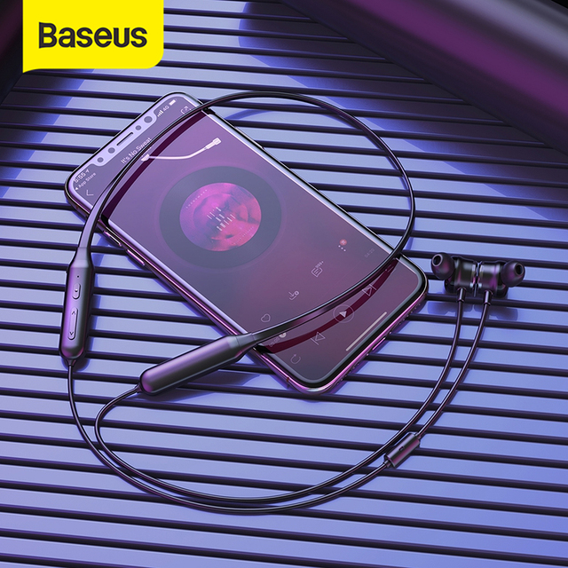 Baseus S15 Active Noise Cancelling Bluetooth Earphone Wireless Sport Earphones ANC Earphone with Mic for Phones and Music
