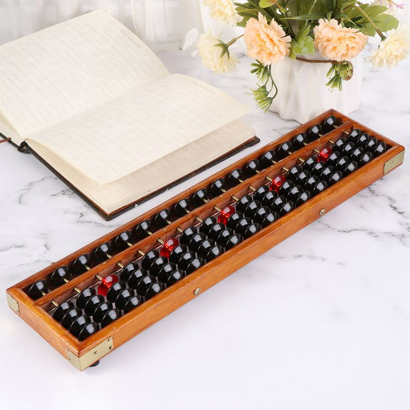 17 Digits Wooden Soroban Standard Abacus Chinese Calculator Counting Math Learning Tool Beginners