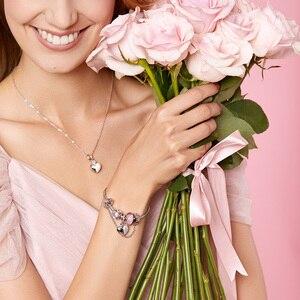 Image 5 - ATHENAIE רומנטי 925 כסף נקה CZ אתה ואני אוהבים לב תליון להתנדנד קסם fit צמיד ושרשרות DIY תכשיטים