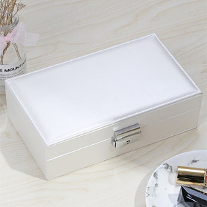 Image 3 - Jewelry Box Wedding Gift Jewelry Case Vanity Box Wooden Structure Covered with High Quality Leather Upscale Pure Color Fashion