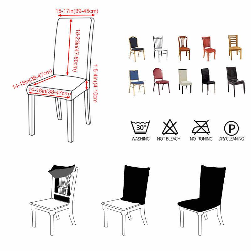 Funda de LICRA para silla elástica, 4 Uds., de Color sólido, fundas deslizantes para comedor, banquete, Hotel, cocina, boda
