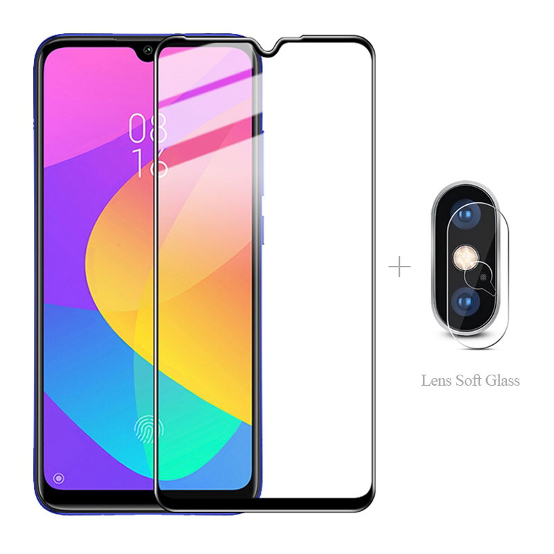 Full Cover Tempered Glass + <font><b>Camera</b></font> <font><b>Protector</b></font> For <font><b>Xiaomi</b></font> <font><b>Mi</b></font> 9 Lite 8 Se CC9 Pro A3 <font><b>9T</b></font> Black Shark 2 Xiao <font><b>mi</b></font> BlackShark Play A 3 image