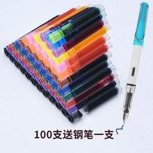 Pens Fountain-Pens Refill-Cartridge Office-Supplies 8pcs Colors-Ink Caliber Multifunction