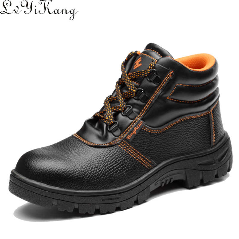 2019 Herfst Winter Combat Mannen Hoge Top Neus Anti Smashing Werkschoenen Mannen Veiligheid Schoenen Waterdicht Anti-slip werkschoenen