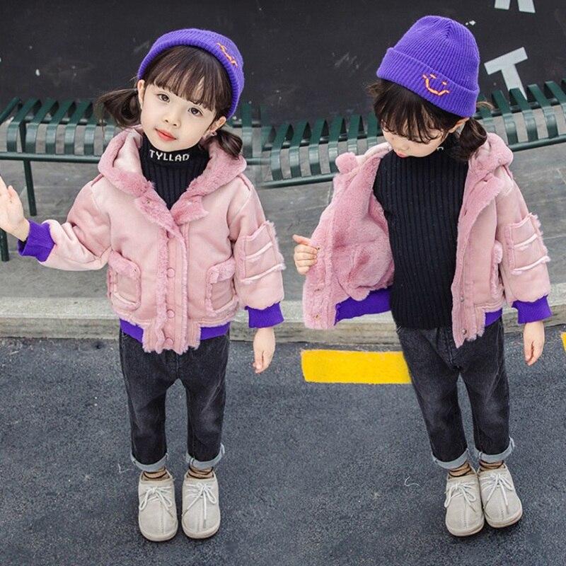 CROAL CHERIE Cute Dogs Kids Girls Jackets Baby Girls Fur Coat Children Winter Outerwear & Coats Thicken FLeece Girls Clothes  (2)