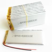 10 قطعة 3.7 فولت 3000 مللي أمبير 6040100 بوليمر ليثيوم يبو بطارية قابلة للشحن لي خلايا ل MP3 GPS DVD اللوحي سماعة باور بنك