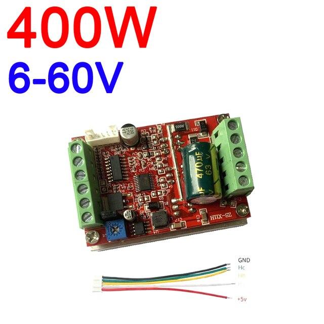 6 72V 400W BLDC 3 phase DC Brushless Motor Controller PWM Hall motor Control Driver Board  12V 24V 48V 72V Forward Reverse
